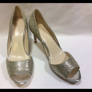 COLE HAAN GRAND OS GOLD / SILVER PUMPS 8.5B